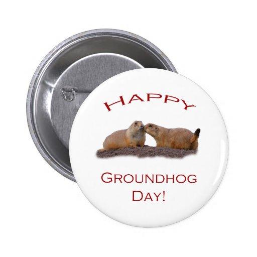 Groundhog Day Kiss 6 Cm Round Badge