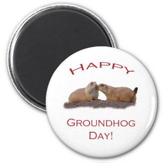 Groundhog Day Kiss 6 Cm Round Magnet