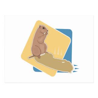 Groundhog Day Postcard