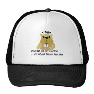 Groundhog day vote shadow mesh hats
