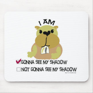 Groundhog day vote  shadow mouse mat