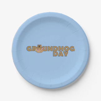 Groundhog Day with Groundhog Paper Plate