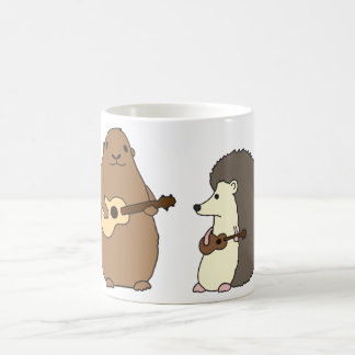 Groundhog, Hedgehog, and Ukuleles Mug