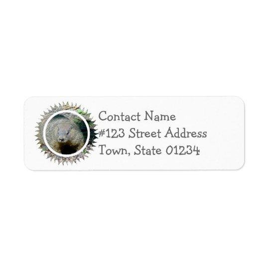 Groundhog Mailing Label Return Address Label