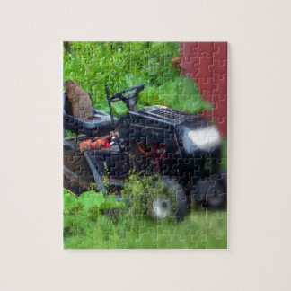 Groundhog on a Lawn Mower Jigsaw Puzzle