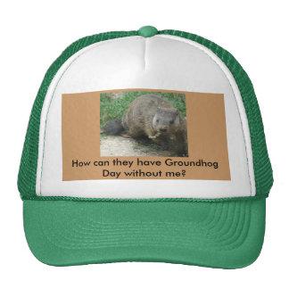 Groundhog Photo Mesh Hats