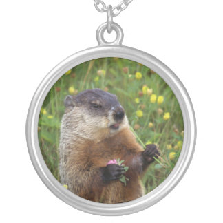 Groundhog Pose Personalized Necklace