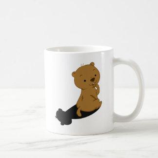 Groundhog Shadow Basic White Mug