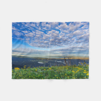 Groundsel Wildflowers in the Swan Range Fleece Blanket