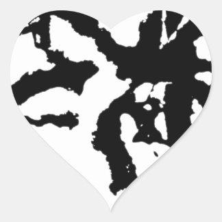 Group acrobatics heart sticker