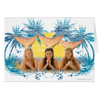 Group Blue Palm Tree Graphic Card