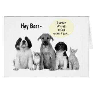 "GROUP BOSS'S BIRTHDAY HUMOR"" CARD"