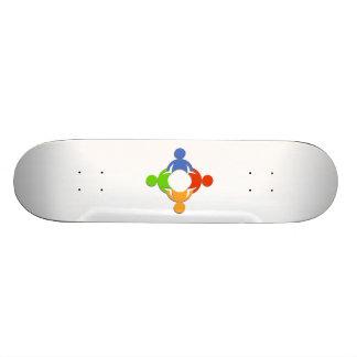 Group Holding Hands Custom Skate Board