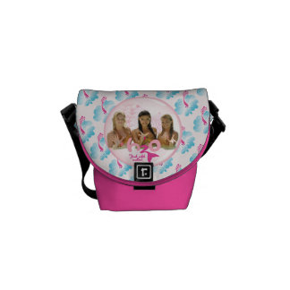 Group In Pink Bubble Courier Bag