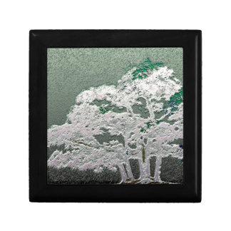 Group of Bonsai Trees in Metallic Green Gift Box