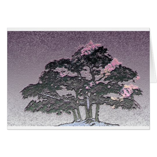 Group of Bonsai Trees in Metallic Purple Card