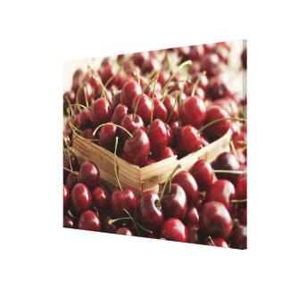 Group of cherries in punnett canvas print