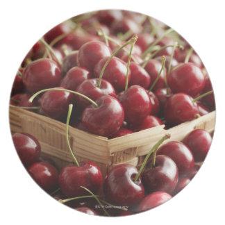 Group of cherries in punnett dinner plate