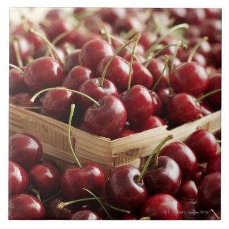 Group of cherries in punnett tile