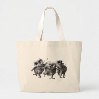 Group OF crazy owls Large Tote Bag