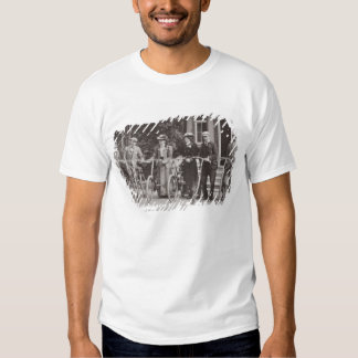 Group of Edwardian bicyclists, early 1900s (b/w ph T Shirt