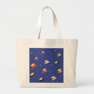 group of flying dogs-Stephen Huneck Large Tote Bag