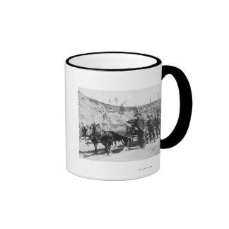 Group of Gold Prospectors Photograph Ringer Mug