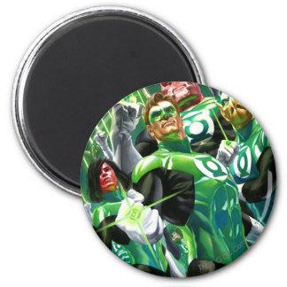 Group of Green Lanterns 6 Cm Round Magnet