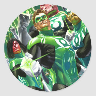 Group of Green Lanterns Classic Round Sticker