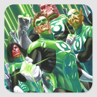 Group of Green Lanterns Square Sticker