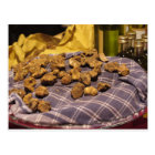 Group of italian expensive white truffles postcard