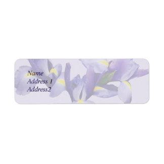 Group of Japanese Irises Save the Date Return Address Label