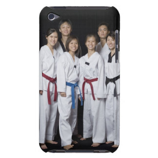 Group of martial arts player standing and barely there iPod covers