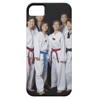 Group of martial arts player standing and iPhone 5 cases
