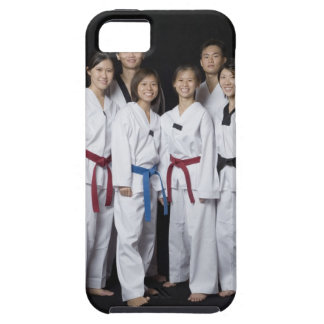 Group of martial arts player standing and iPhone 5 covers