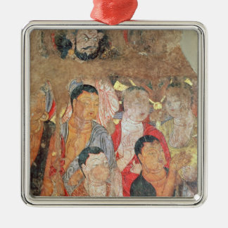 Group of monks and Buddha Christmas Ornament