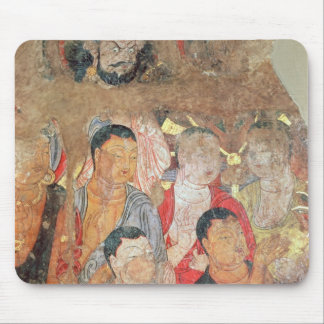 Group of monks and Buddha Mouse Mat