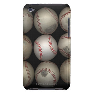 Group of old baseballs on black background barely there iPod cases