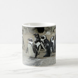 group of penguins basic white mug