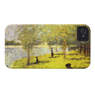 Group of people by Georges Seurat iPhone 4 Case-Mate Case