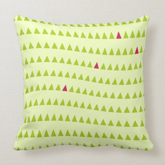 Group of Pink Triangles Cushion