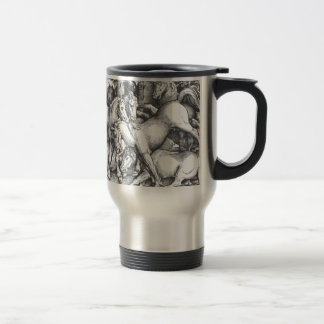 Group of Seven Wild Horses by Hans Baldung Stainless Steel Travel Mug