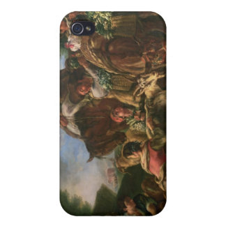 Group of shepherds with a horse case for iPhone 4
