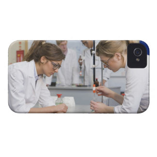 Group of students wearing lab coats and safety iPhone 4 Case-Mate cases
