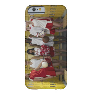 Group of teenage girls (15-17) standing in barely there iPhone 6 case