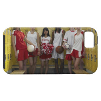 Group of teenage girls (15-17) standing in iPhone 5 covers