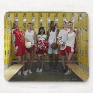 Group of teenage girls 15-17 standing in mousepad