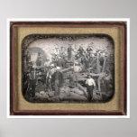 Group of Twenty-three Miners at Sluice [ca. 1852] Print
