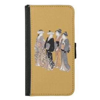Group of Vintage Japanese Geisha Women Samsung Galaxy S5 Wallet Case