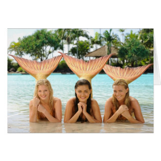 Group On The Beach Greeting Card